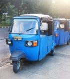 Bajaj is a unique public transportation - Stock Images