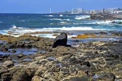 Bajamar y Punta de Hidalgo Imagen de archivo libre de regalías