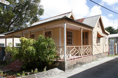 Bajan house. House in a Barbados Royalty Free Stock Image