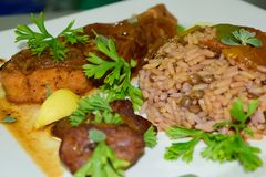 Bajan Rice And Pigeon Peas Stock Photography