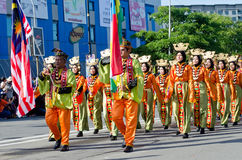Bajau Ethnic Group Participant in Malaysia Independence Day Royalty Free Stock Photography