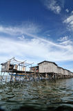 Bajau fisherman's wooden hut Royalty Free Stock Images