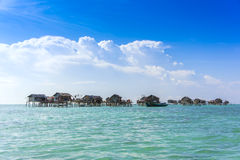 Bajau floating house Royalty Free Stock Images