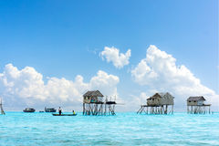 Bajau floating village Royalty Free Stock Images