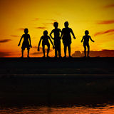 Bajau Kinder stockfotografie