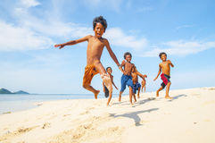 Bajau-laut Kinder Lizenzfreie Stockfotos