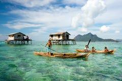Bajau Laut in Semporna Sabah Borneo royalty-vrije stock afbeelding
