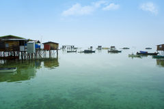 Bajau laut village Stock Photography
