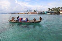 Bajau le gitan de mer Photo stock