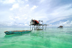 Bajau rybaka wioska zdjęcia royalty free
