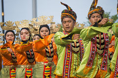 Bajau Sama folkgrupp under den Malaysia självständighetsdagen Royaltyfri Fotografi