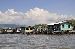 Bajau Sea Gypsy homes Borneo Island Royalty Free Stock Images