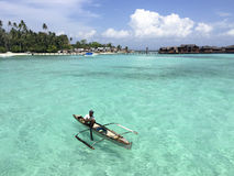 Bajau in Semporna of Malaysia royalty free stock image