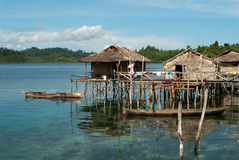 Bajau village Stock Photos