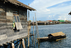 Bajau village Stock Photography