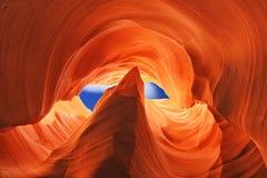 Baje el barranco del antílope, Arizona, los E Foto de archivo libre de regalías