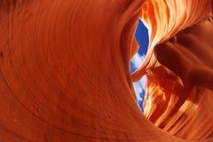 Baje el barranco del antílope, Arizona, los E.E.U.U. Fotos de archivo libres de regalías