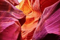Baje el barranco del antílope, Arizona, los E Imagen de archivo libre de regalías