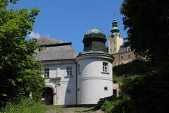 Baje el castillo en Fulnek Imagen de archivo libre de regalías