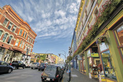 Baje a Johnson Street Shopping District fotografía de archivo libre de regalías