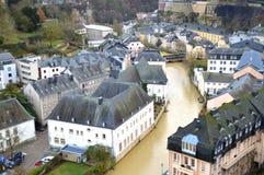 Baje la ciudad de Luxemburgo Imagen de archivo libre de regalías