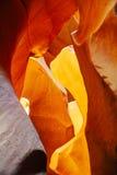 Baje la página cercana de la opinión del barranco del antílope, Arizona Fotografía de archivo