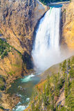 Baje las caídas de Grand Canyon del parque nacional de Yellowstone Imagen de archivo libre de regalías