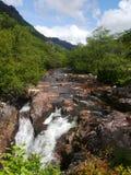 Baje las caídas Glen Nevis Scotland Imágenes de archivo libres de regalías