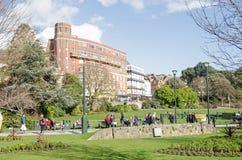 Baje los jardines, Bournemouth foto de archivo