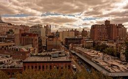 Baje Manhattan vista de la alta línea Imágenes de archivo libres de regalías