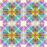 Bajecznie bezszwowy tło w fractal projekcie Kolekcja - dla ilustracji