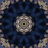 Bajecznie fractal tło z spirali i płatków ornamentem ty zdjęcie stock