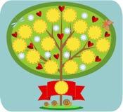 Bajecznie rodzinny drzewo Fotografia Royalty Free