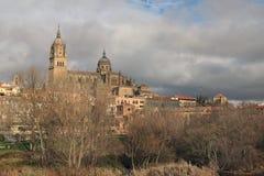 Bajecznie widoki średniowieczna katedra Catedral Nueva De Sala zdjęcia royalty free