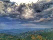 Bajina basta serbia. Mountains, clouds sky sunset september 2017 Stock Photo