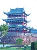 Bajing大阳台著名风景点在江西 免版税库存图片