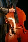 Bajista doble acústico - jazz clásico Imágenes de archivo libres de regalías