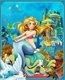 Bajka ilustracja dla dzieci - piękny Manga styl - Obrazy Stock