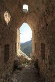 Bajka kasztel Hilarion w Północnym Cypr obraz stock