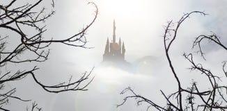 Bajka kasztel w mgle Obraz Stock