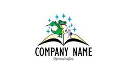 Bajka książkowy logo ilustracja wektor