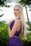 Bajka - portret kobieta w purpurach Obrazy Royalty Free