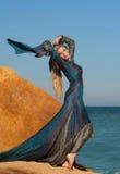 Bajka - z zamkniętymi oczami magiczna kobieta Zdjęcie Stock