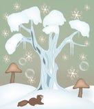 bajki czarodziejska ilustracyjna zima ilustracji