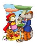 bajki kapiszonu mała czerwona jazda royalty ilustracja