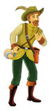 Bajki postać z kreskówki - ilustracja dla dzieci Fotografia Stock