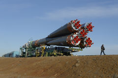Bajkonur Cosmodrome stockfotos