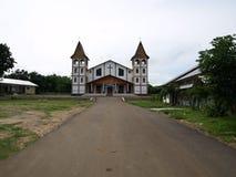 bajo教会flores labuan的印度尼西亚 图库摄影