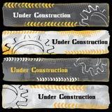 Bajo banderas de la construcción Imagen de archivo