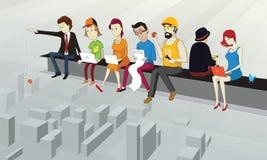 Bajo concepto de la construcción stock de ilustración
